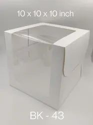 White Brown Cake Box With Window