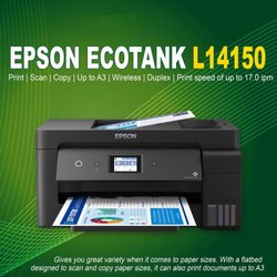 Epson Eco Tank L14150 A3 Wifi Duplex Wide Format All in One Printer