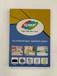 White Self Adhesive Paper Labels