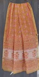 5.5 m (separate blouse piece) Festive Wear Maheshwari Silk Hand Loom Saree, With Blouse Piece