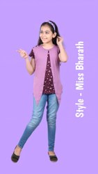 Hosiery Casual Wear Girls Printed Tops