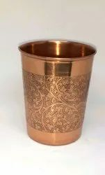 Copper Ayurveda Water Drinking Glass, For Home, Capacity: 200ml