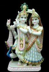White Marble Radha Krishna Ji