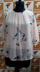 Pink Georgette Print top