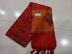 Kalyani Cotton Printed Saree With Blouse