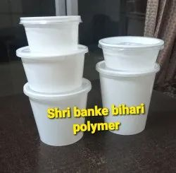 White Disposable Plastic Food Container