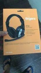 Wired Black Finger Headphone