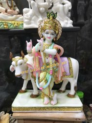 Marble Krishna Moorti Statue