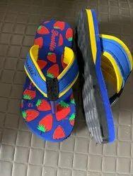 Blue EVA Kids Flip Flops Slippers, Size: 11-1