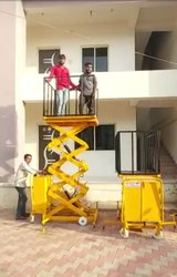 Hydraulic man lift platform