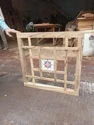 Teek Wood Material Modern Wooden Window, Size/Dimension: 15*44 Sizes
