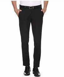Flat Regular Fit Black Pant, Machine wash, Fully Comfertable