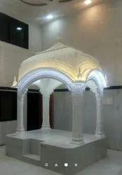 White Marble Designer Palki