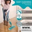 Flat Spray Mop , Liquid Dispenser And Movable Handle For Wet And Dry Surface