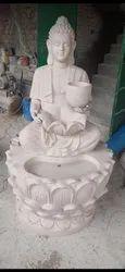 Fibre Lotus Budha fountain