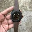 Black Men Fossil Chronograph Watch, For Personal Use