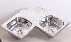 Fantus Double Bowl Corner Sink