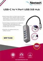 NEXTECH NA32C USB -C TO 4PORT  USB3.O HUB