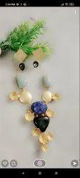 Semi Precious Stone Necklace Set