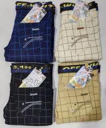 Party Wear Stretchable Kid'S Cotton Plain Jeans, Size: 32x40, Machine wash