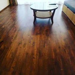 Fiberboard Dark Brown Bvg Flooring, For Residential, Thickness: 8mm