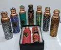 Copper stone bottle set