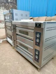 Double Deck 4 Tray Gas Oven