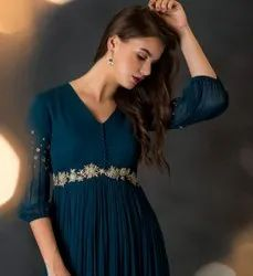 Georgette Embroidered Designer dress