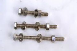 Hexagonal SS Nut Bolt Set, Thickness: 15 mm