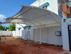 Entrance car parking tensile structures and roofing structures