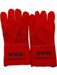 Heavy Duty Welding Leather Gloves With Inner Lining, Heat Resistance