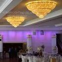 Banquet hall crystal chandelier