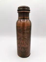 Etched Copper Bottle