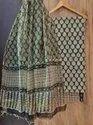 Bagru Hand Block Print Cotton Dress Material with Kota Doria Dupatta....