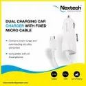Car charger with fixed cable n Usb port