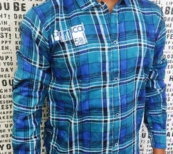 King royal Collar Neck Cotton Chex Shirts, Machine wash, Size: M To Xl
