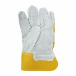 Male Canadian Leather Safety Gloves, 11-15 Inches, Finger Type: Full Fingered