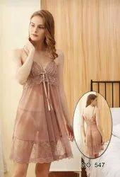 Short Length Imported Fabrics Honeymoon Night Dress, Free Size, 16-96
