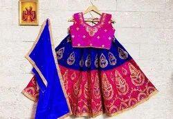 Silk Festive Wear Kids Girl Designer Lehenga Choli
