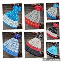 Women Printed Ikkat Gown