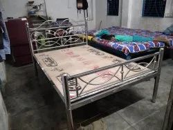 Silver Stainless Steel Single Bed