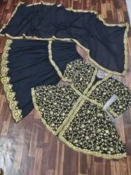 Georgette Party Wear Sharara Suit