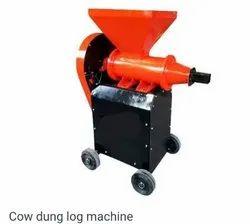 Cow dung log machine