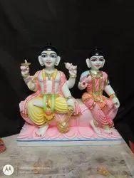 Marble Vishnu Ji Laxmi Statue