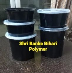 Black Disposable Plastic Food Containers