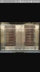 Standard Silver Stainless Steel Doors, For Home, Material Grade: Jindal Raw Material