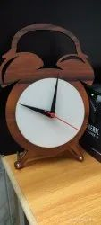 White Printed Sublimation Wooden Blank Table Clock