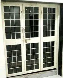 Beige UPVC French Doors Balcony's, For Home