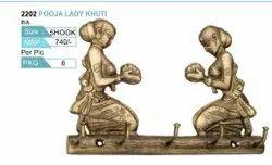 Antique Brass Pooja Lady Hook