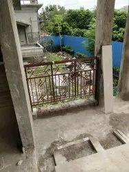 Iron balcony railing